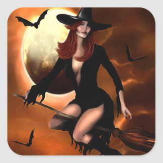 Halloween Witch 2005 Square Sticker