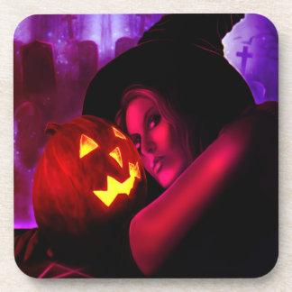 Halloween Witch 2011 Cork Coaster