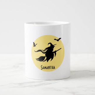 Halloween witch 20 oz large ceramic coffee mug