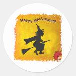 Halloween_Witch 2 Pegatina Redonda
