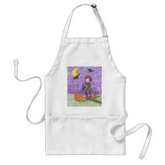 Halloween witch 3 adult apron