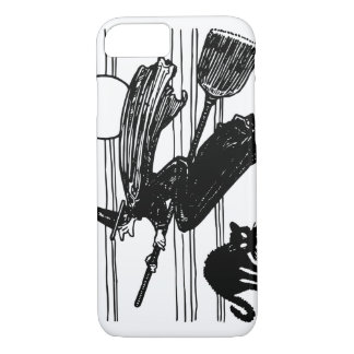 Halloween Witch and Black Cat iPhone 8/7 Case