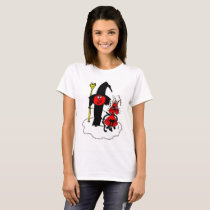 Halloween Witch and Cat T-Shirt
