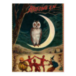 Halloween Witch and Devil Invitation Postcard