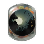 Halloween: witch and hounted house jelly belly candy jar