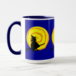 Halloween Witch and Moon Coffee Mug