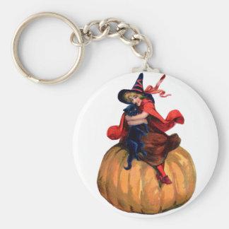 Halloween - Witch Basic Round Button Keychain