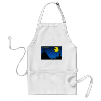 Halloween Witch, Bats, House / Adult Apron