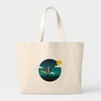 halloween witch Befana Large Tote Bag