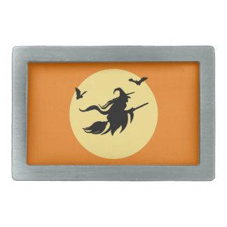 Halloween witch belt buckle
