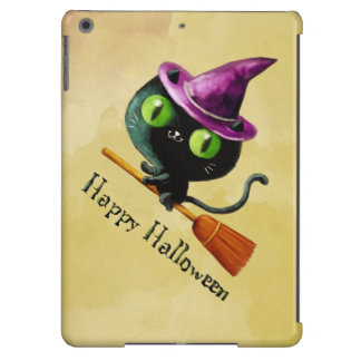 Halloween Witch Black Cat iPad Air Covers