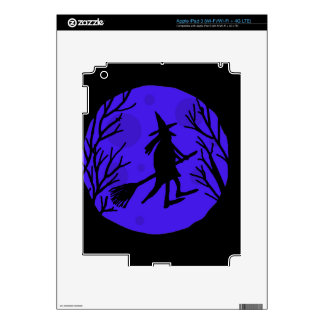 Halloween witch - blue decals for iPad 3