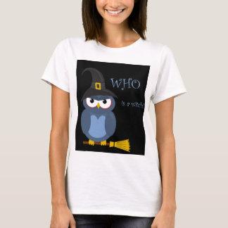 Halloween witch - blue owl T-Shirt