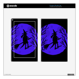 Halloween witch - blue skins for kindle fire