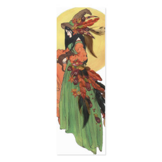 Halloween Witch Bookmark Double-Sided Mini Business Cards (Pack Of 20)
