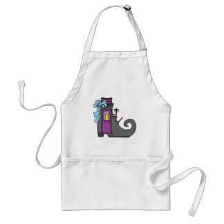 halloween witch boot house adult apron