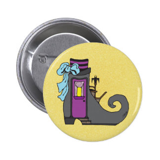 halloween witch boot house button