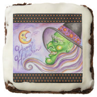 Halloween Witch Brownies Square Brownie
