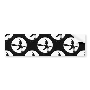 Halloween Themed halloween witch bumper sticker