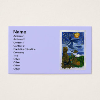 Halloween witch business card