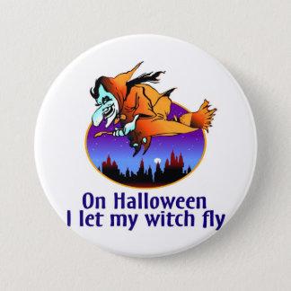 Halloween Witch Button