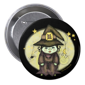 Halloween Witch Button
