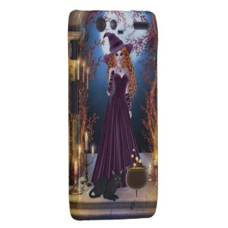 Halloween Witch by Candlelight Motorola Droid RAZR Case