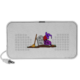 Halloween Witch by Tombstone iPod Speakers