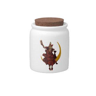 Halloween Witch Candy Jar
