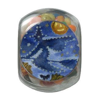 Halloween Witch Glass Jar