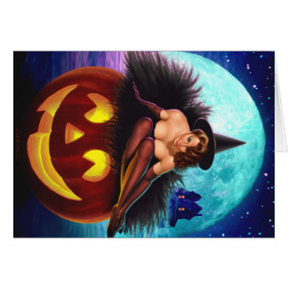 """""""Halloween Witch"""" Card"""