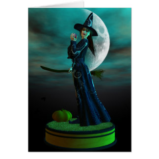 Halloween Witch Greeting Cards