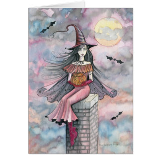 Halloween Witch Card by Molly Harrison