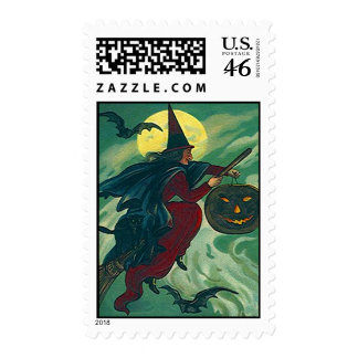 HALLOWEEN WITCH CAT JOL Stamps Match Invitations