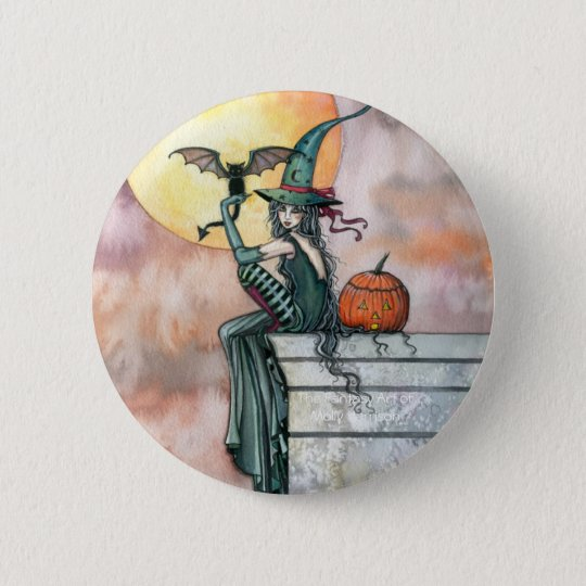 Halloween Witch Cat Pin by Molly Harrison