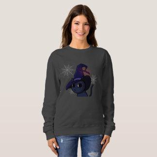 Halloween Witch Cat Sweatshirt