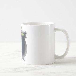 Halloween witch cauldron coffee mug