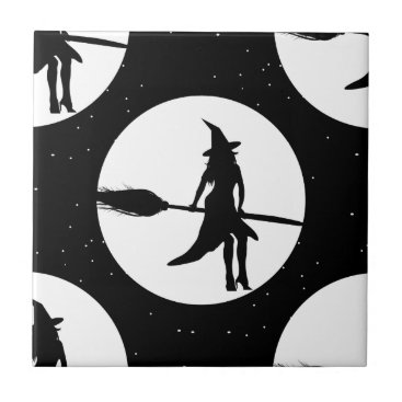 halloween witch ceramic tile