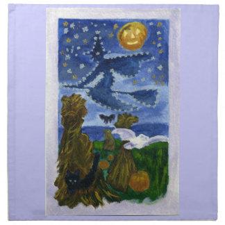 Halloween witch napkins zazzle for Halloween cloth napkins