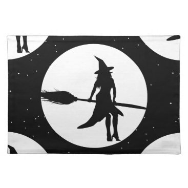halloween witch cloth placemat