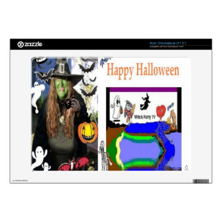 Halloween Witch Collectible Custom Skins Acer Chromebook Skins