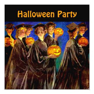Halloween Witch College Grads Invitation