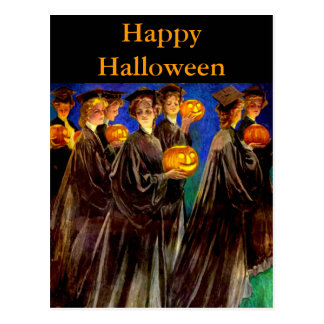 Halloween Witch College Graduates Postcards