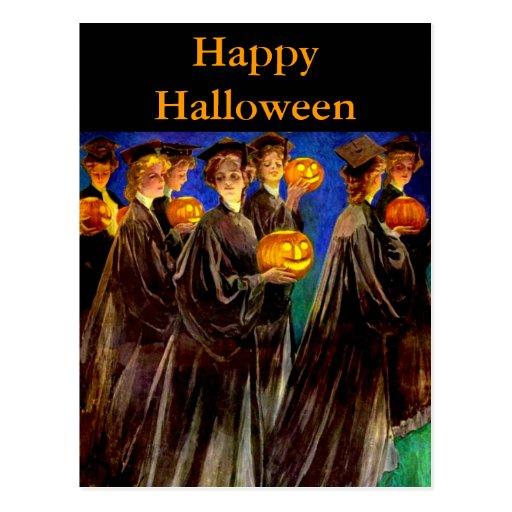 Halloween Witch College Graduates Postcards