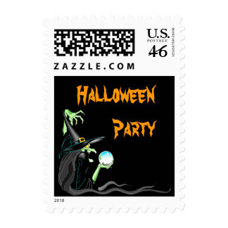Halloween Witch Crystal Ball Seer Witchy Stamps