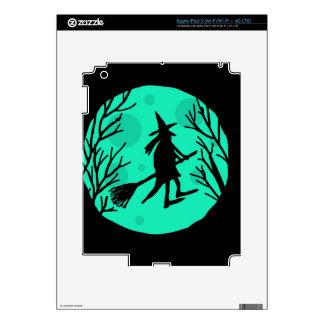Halloween witch - cyan moon iPad 3 decals