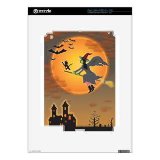 Halloween Witch Decals For iPad 2
