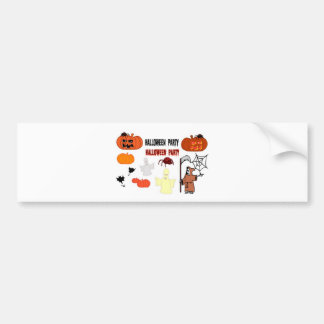 Halloween witch design bumper sticker