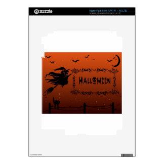 Halloween witch design iPad 3 decal