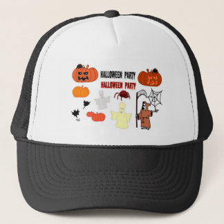 Halloween witch design trucker hat